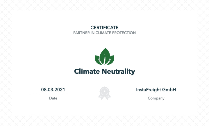 Certificate partner in climate protection