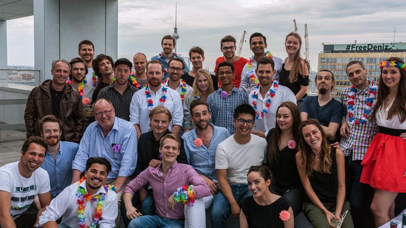 InstaFreight team celebrating new funding round