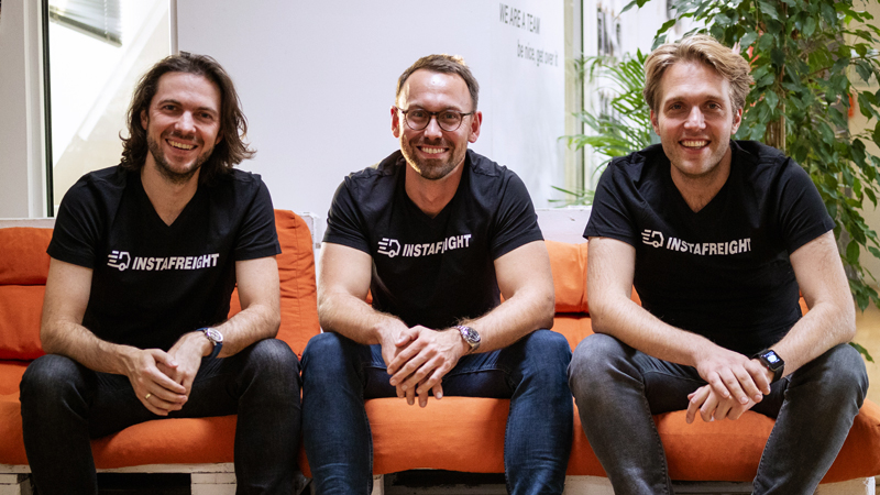Three co-founders of InstaFreight